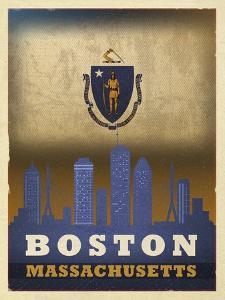 Boston Flag by Red Atlas Designs