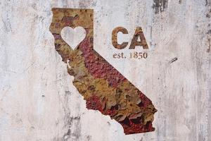 CA Rusty Cementwall Heart by Red Atlas Designs