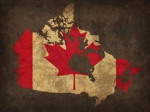 Canada Country Flag Map by Red Atlas Designs