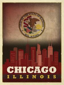 Chicago Flag by Red Atlas Designs