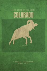 CO State Minimalist Posters by Red Atlas Designs