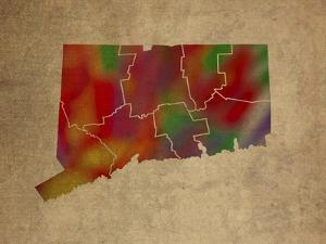 CT Colorful Counties by Red Atlas Designs