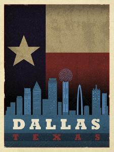 Dallas Flag by Red Atlas Designs