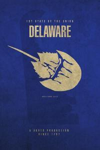 DE State Minimalist Posters by Red Atlas Designs