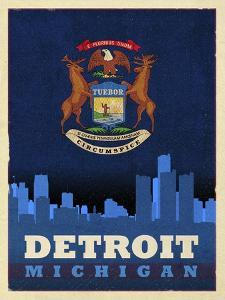 Detroit City Flag by Red Atlas Designs