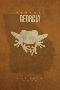 GA State Minimalist Posters by Red Atlas Designs