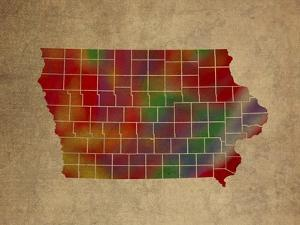 IA Colorful Counties by Red Atlas Designs
