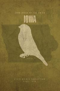 IA State Minimalist Posters by Red Atlas Designs