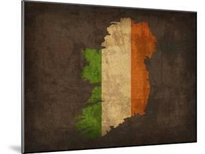 Ireland Country Flag Map by Red Atlas Designs