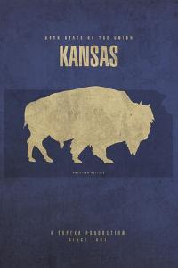 KS State Minimalist Posters by Red Atlas Designs
