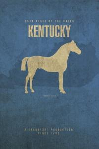 KY State Minimalist Posters by Red Atlas Designs