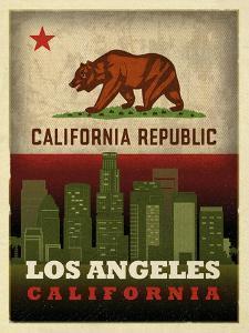 LA flag by Red Atlas Designs