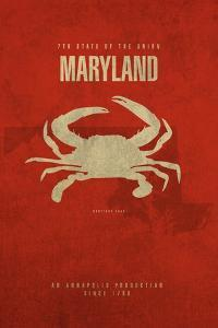 MD State Minimalist Posters by Red Atlas Designs