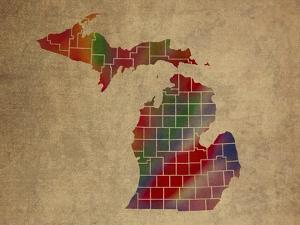 MI Colorful Counties by Red Atlas Designs