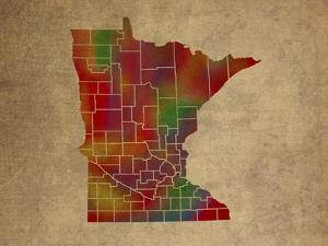 MN Colorful Counties by Red Atlas Designs