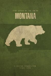 MT State Minimalist Posters by Red Atlas Designs