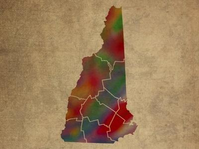 NH Colorful Counties by Red Atlas Designs