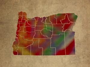 OR Colorful Counties by Red Atlas Designs