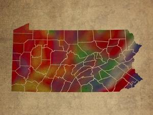 PA Colorful Counties by Red Atlas Designs