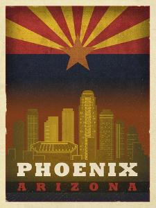 Phoenix Flag by Red Atlas Designs