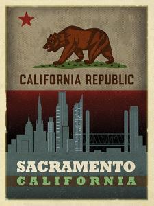 Sacramento Flag by Red Atlas Designs