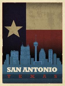 San Antonio Flag by Red Atlas Designs