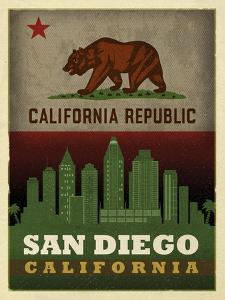 San Diego Flag by Red Atlas Designs