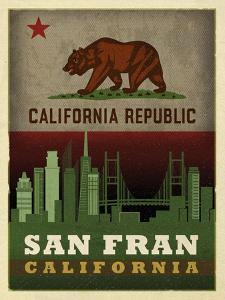 San Fran Flag by Red Atlas Designs