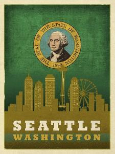 Seattle Flag by Red Atlas Designs