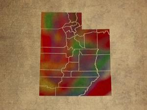 UT Colorful Counties by Red Atlas Designs