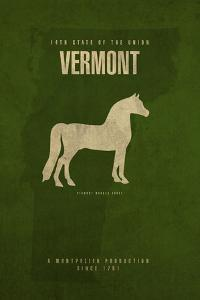 VT State Minimalist Posters by Red Atlas Designs