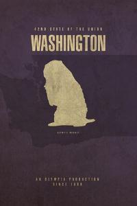 WA State Minimalist Posters by Red Atlas Designs