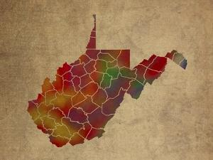 WV Colorful Counties by Red Atlas Designs