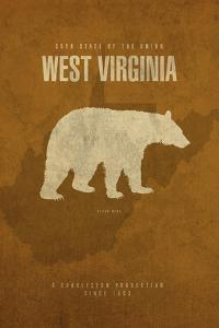 WV State Minimalist Posters by Red Atlas Designs