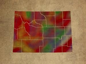 WY Colorful Counties by Red Atlas Designs