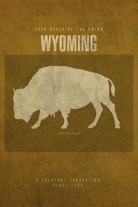 WY State Minimalist Posters by Red Atlas Designs