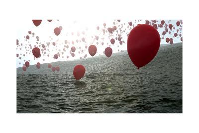 Red Balloons Over The Ocean-Gunnar Assmy-Art Print