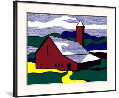 Red Barn II, 1969-Roy Lichtenstein-Framed Art Print