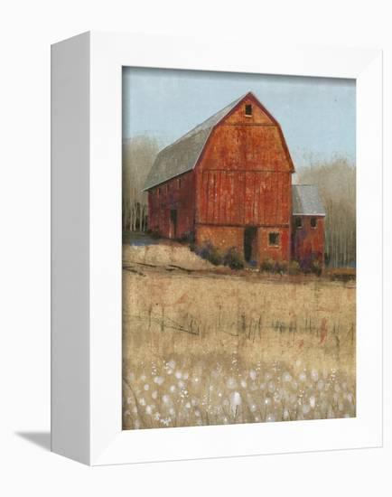 Red Barn View I-Tim O'toole-Framed Stretched Canvas