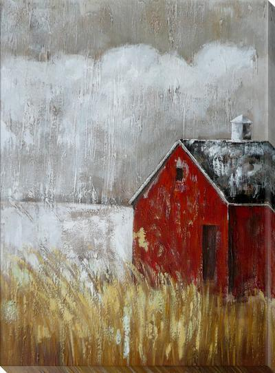 Red Barn--Hand Painted Art