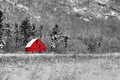Red Barn-dbriyul-Photographic Print