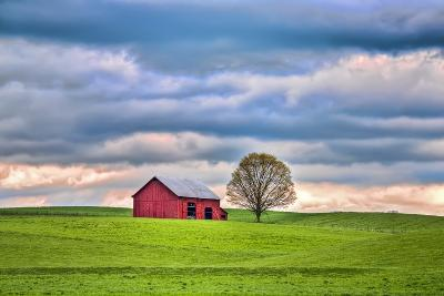 Red Barn-Bob Rouse-Photographic Print