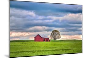 Red Barn-Bob Rouse-Mounted Photographic Print