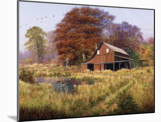 Red Barn-Bill Makinson-Mounted Giclee Print