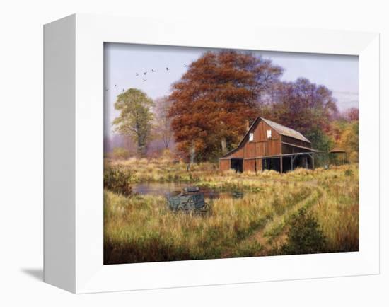 Red Barn-Bill Makinson-Framed Premier Image Canvas