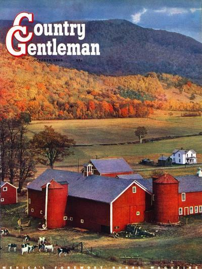 """""""Red Barns and Silos,"""" Country Gentleman Cover, October 1, 1949-W^C^ Griffith-Giclee Print"""