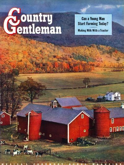 """Red Barns and Silos,""October 1, 1949-W^C^ Griffith-Giclee Print"