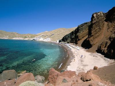 Red Beach, Akrotiri, Island of Santorini (Thira), Cyclades Islands, Aegean, Greek Islands-Sergio Pitamitz-Photographic Print