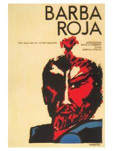 Red Beard, Cuban Movie Poster, 1964