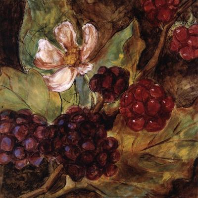 Red Berries And Blossom-Nicole Etienne-Art Print